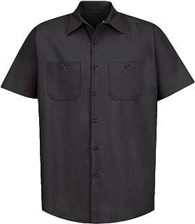 Red Kap Mens Industrial Work Shirt, Regular Fit, Short Sleeve