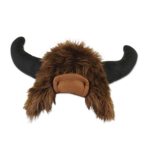 Beistle 60052 Plush Buffalo Hat, One Size, Brown/Black