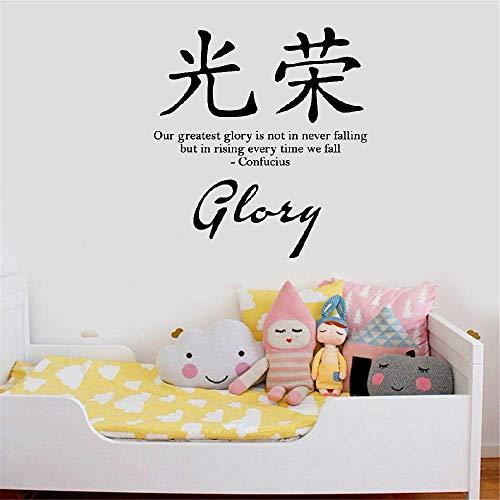 Wandtattoo Kinderzimmer Wandtattoo Wohnzimmer Chinesische Schriftzeichen Charakter Sprüche Ruhm Wörter Englisch Text Home Decor Wohnzimmer Aufkleber