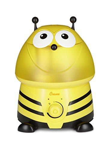 Crane EE-8246 Ultraschall Luftbefeuchter für das Kinderzimmer | Buzz die Biene, 45 W, 230 V, gelb, 25 x 23,5 x 31,5 cm