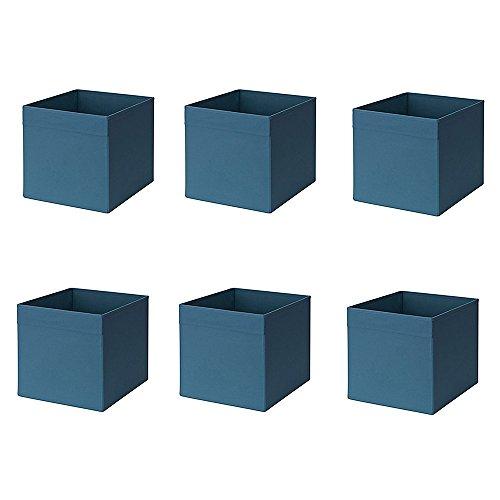 Ikea Drona box, blu scuro (confezione da 6)