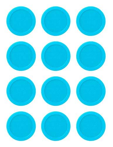 Generisch WalterPrints Ersatzchips Looping Louie 12 Stück blau / rot Chips (HellBlau)