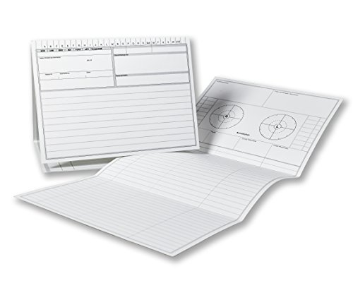 Patientenkarteikarten für Heilpraktiker, DIN A5, 190g/m² Spezialkarton, Farbe: Weiß, 100 Stück