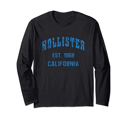 Hollister, California Home Souvenir . EST. 1868 . blue Langarmshirt