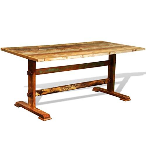 N/O Viel Spaß beim Einkaufen mit Esstisch Vintage Altholz