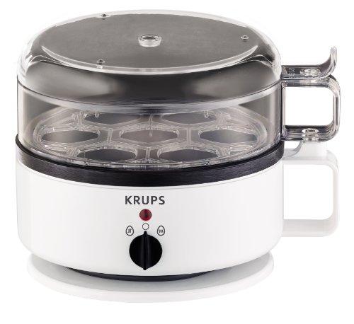 Krups F23070 Eierkocher mit Wasserstandsanzeige | Für bis zu 7 Eier | Koch- und Warmhaltefunktion | Weiß