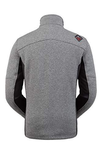 Spyder Herren Wengen Encore Fleece Jacke - Full Zip Sweater, Herren, Wengen Encore Full Zip Fleece Jacket, ebenholz, Small