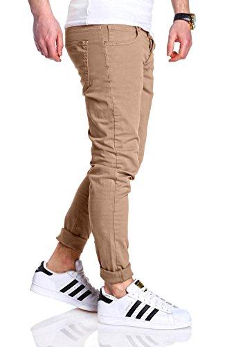 MT Styles schmale Hose Jeans RJ-2020 [Beige, W36/L32]