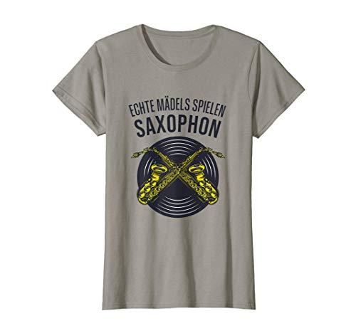 Echte Mädels spielen Saxophon, lustiges Saxophon T-Shirt