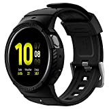 Spigen Rugged Armor Pro Designed for Galaxy Watch Active 2 Band with Protector Case/Cover 44mm - Black