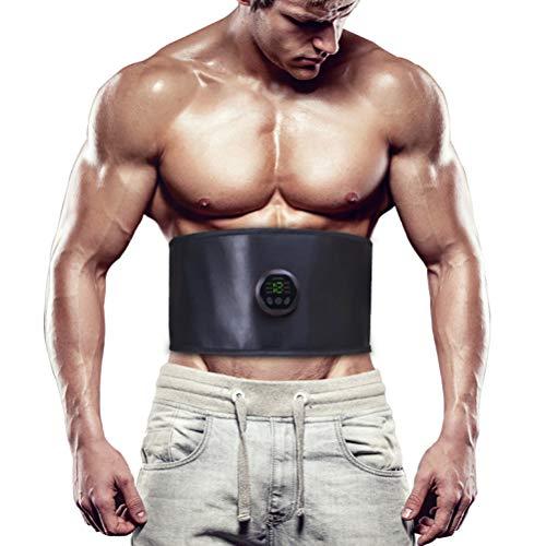 Rlevolexy Fitness Gürtel Bauchtrainingsgürtel 6 Modi Toning Taille Trainer Elektrobauch Slimmerbelt