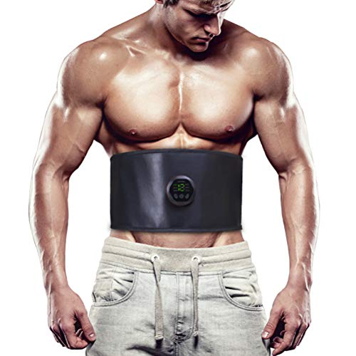 Hereb Estimulador de abdominales, cinturón de entrenamiento abdominal, 6 modos de tonificación, cinturón adelgazante, esculpir músculo en casa