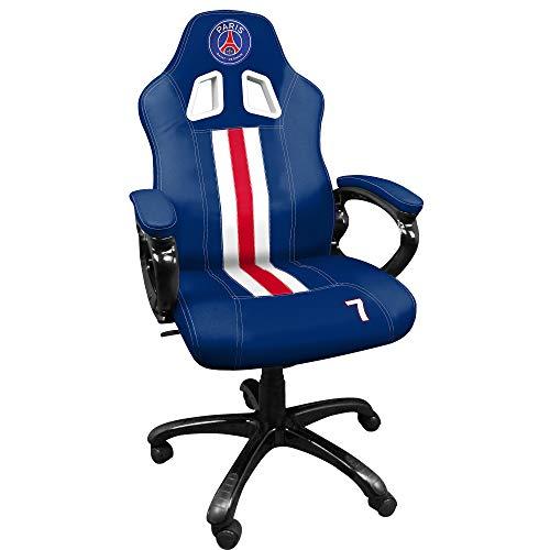 PSG Paris Saint germain Edition limitée n°7 - Siege gaming baquet - Fauteuil gamer avec assise ergonomique - Chaise de bureau et de jeu pivotante