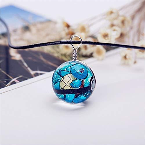 yanshan Bola de cristal joyería caliente Eevee Pokeball collar colgante imagen Collares (Color : 2, Size : 20 mm)