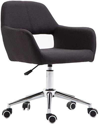 BeingHD Qualitätsbürostuhl, Bürostuhl mit Armlehne Computerstuhl mit Riemenscheibe, Einstellbarer Höhe, schwenkbarer Home Office Lounge Chair (Color : Black)
