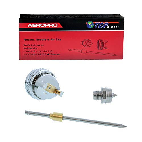 TCP Global 2.5 Needle,Nozzle, Air Cap Set for The G6600 Series Spray Gun
