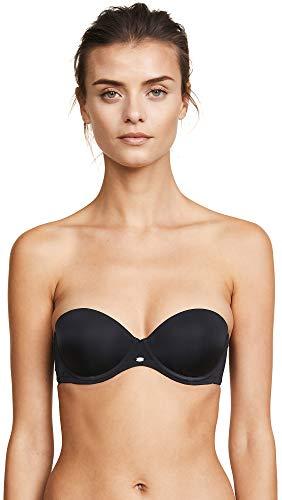 Calvin Klein Women's Naked Glamour Strapless Push Up Bra,Black,32A