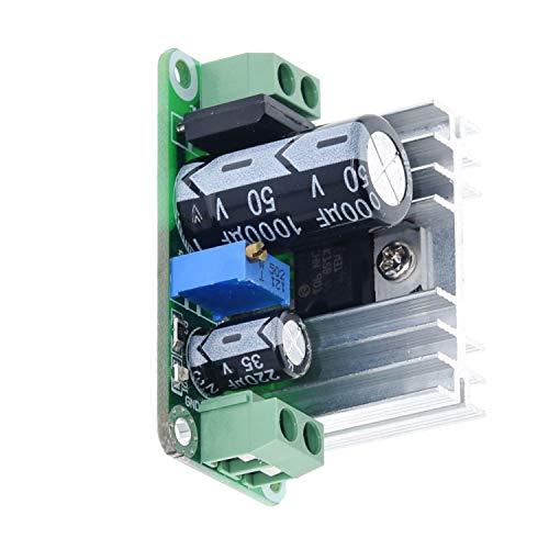 Fuente de alimentación LM317T con Filtro rectificador DC-DC Ajustable convertidor Buck Bajada Placa de Circuito del módulo de regulador Lineal