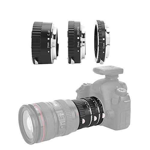Metalen Makro verlengbuis set, 13mm / 21mm / 31mm Macro autofocus lens adapter voor Canon EF/EF-S DSLR camera