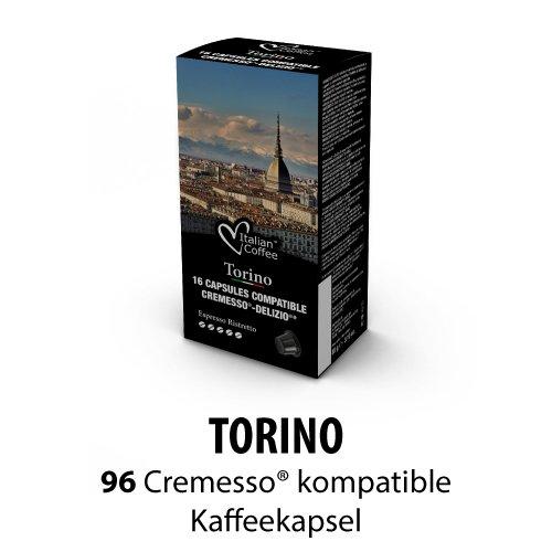 Compatible Cremesso-Delizio Caffè Ristretto 96 Kapseln, 6er Pack (6 x 88 g)