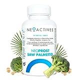 NeoProst Saw Palmetto | Para hombres a partir de 50 años | Aporta ácidos grasos y esteroles | licopeno, brócoli y zinc | Ayuda hiperplasia benigna de próstata y caída del cabello | 90 Capsulas