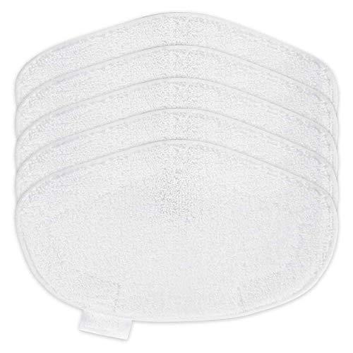 wivarra 5 Almohadillas de Fregona de Lavables de Repuesto para Aspiradora Polti Vaporetto PAEU0332, Color Blanco