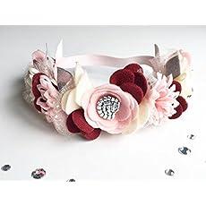 Newborn Bow School Uniform Headband Felt Flower Nylon Headband Felt Flower Headband Baby Shower Gift Baby Headband Suede Bow