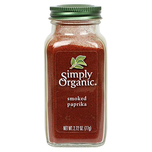 Simply Organic Smoked Paprika, 2.72 Ounce Bottle, Certified Organic, Vegan | Capsicum annuum
