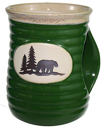 DEI Ceramic Mug, 5.0 x 3.75 x 5.0, Green/Tan