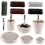 Hedume Set of 12 Buffing Pad Polishing Wheel Kits Included 5 Pack Rouge Compound, Cone, Column, Mushroom, T-Shaped Wheel Grinding Head with 1/4' Handle-for Manifold/Aluminum/Stainless Steel/Chrome