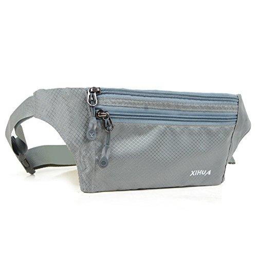 3 fermetures à glissière Polyester résistant à l'eau Sports Fanny Lot avec ceinture