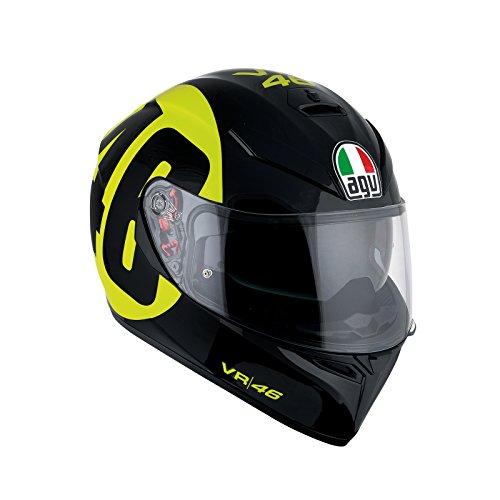 AGV Casco Moto K-3SV E2205Top plk, Black/Amarillo, L