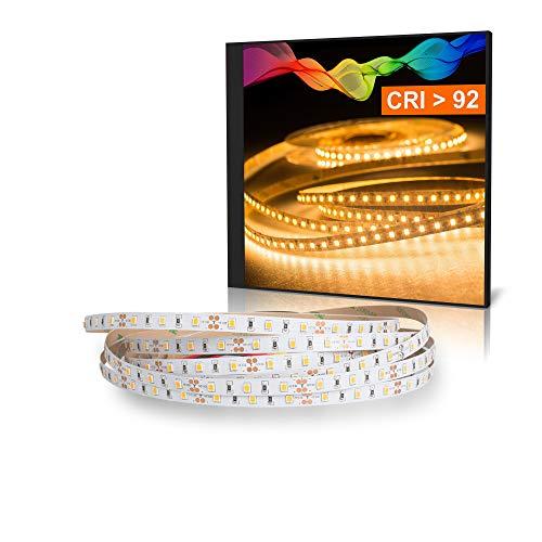 Mextronic LED Streifen LED Band LED Strip 2835 Warmweiß (2700K) CRI 92 36W 5 Meter 12V IP20