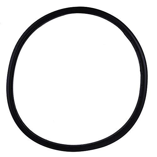 Vollgummireifen Fahrrad, Fahrrad Vollgummireifen, langlebiger und Rutschfester aufblasbarer schlauchloser Reifen für Rennradreifen mit festem Gang(Schwarz)