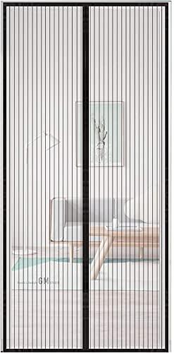 Cortina magnética para puerta, cortina magnética de 39 × 83 pulgadas, cortina mágica de pasta, duradera y resistente, mantiene el aire fresco dentro y fuera de los insectos