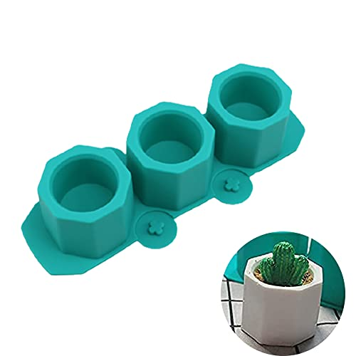 ZREAL Silicone Cactus Flower Pot Mold Ceramic Clay Craft Casting concrètes Cup Mould Supplies