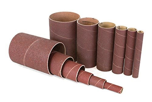 WEN 6510SP80 80-Grit Oscillating Spindle Sanding Sleeves Combo (12 Pack)