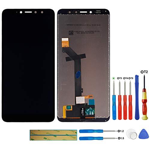 swark Pantalla LCD compatible con Xiaomi Redmi S2 (negro + sin marco), pantalla táctil digitalizador, cristal de montaje + herramientas