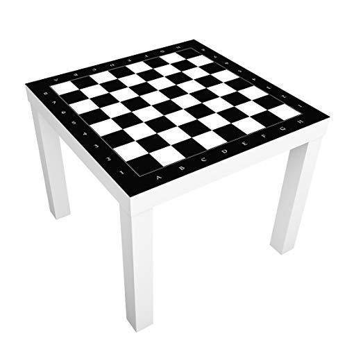 Möbelfolie für IKEA Lack Klebefolie Dekorfolie Aufkleber Schachbrett 55 x 55cm