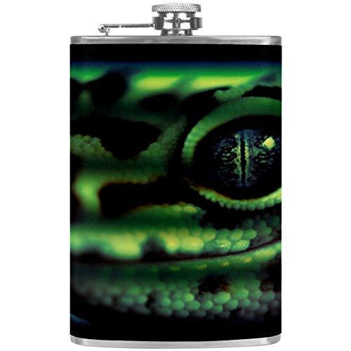 Bennigiry - Petaca para hombre con diseño de lagarto de reptil gecko a prueba de fugas de acero...