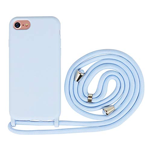 Nupcknn Funda Silicona con Cuerda para iPhone 7/iPhone 8/iPh
