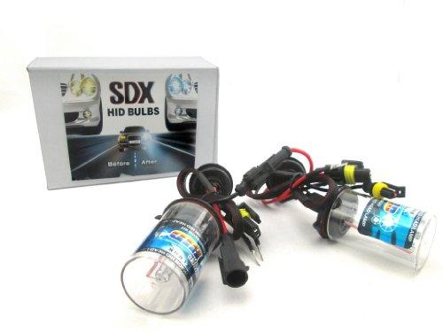 SDX HID Xenon DC Headlight Replacement Bulbs, 9006, 6000K
