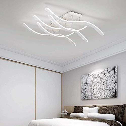 ZANYUYU Lámparas colgantes posmoderna simple luz salón rectangular Ambiente luz de techo de la personalidad creativa Sala luces cálido dormitorio Lightin, Stepless atenuación de 3 cabezas