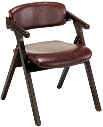 WYL Holz-Klappstuhl, Gemütlich Esszimmerstuhl (Color : Brown)