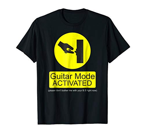 Guitar Mode Activated / Funny Guitar T-Shirt for Musicians