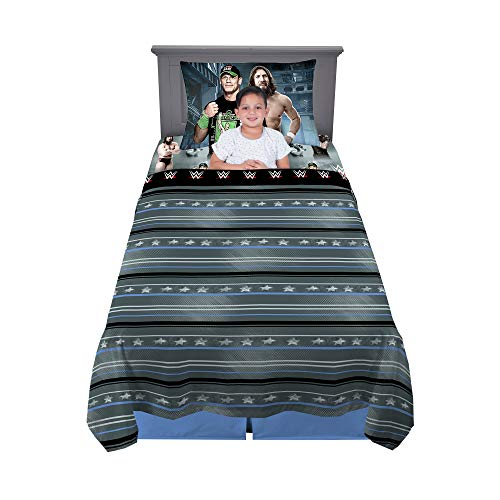 Franco Kids Bedding Sheet Set, 3 Piece Twin Size, WWE Wrestling Superstars