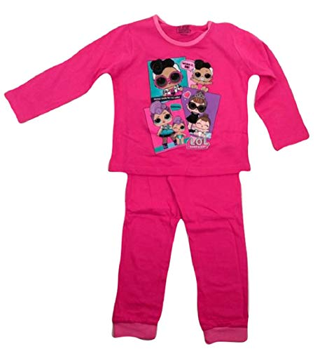 Preisvergleich Produktbild LOL Surprise Mädchen Dolls Schlafanzug Pink Fuchsia,  Pink 3 / 4 Jahre