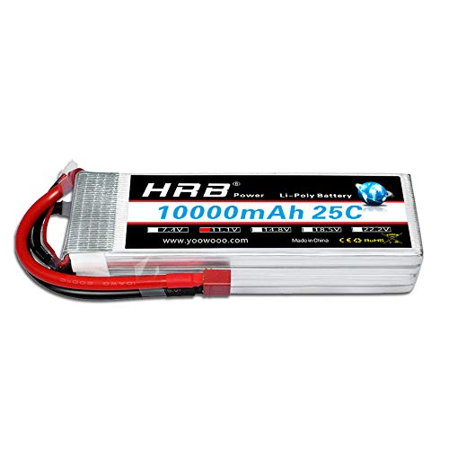 Price comparison product image HRB 3S 10000mah 11.1V 25C RC lipo Battery with T Plug for Helicopter Car DJI Drone FPV