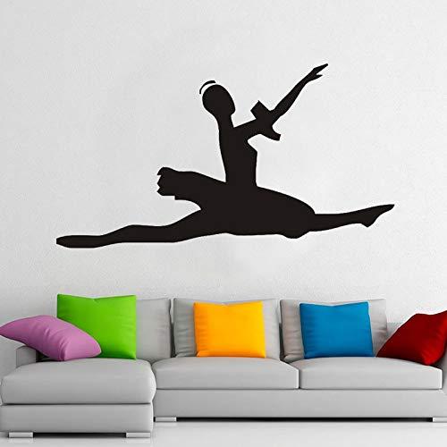 wopiaol Ballet Meisje Muursticker Dans Sport Fitness Mooie Vinyl Raam Stickers Meisjes Slaapkamer Dans Kamer Interieur Decor Mural