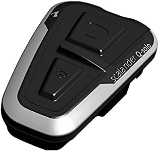 Cardo Scala Q-Solo Bluetooth Motorcycle Headset, The Essential Communicator for The Lone Rider (Black,)